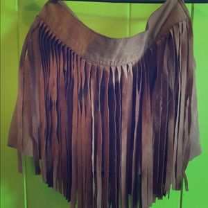 DKNY vintage fringe mini skirt